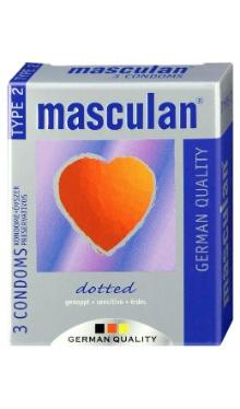 Prezervativ dotted, nr.2 - Masculan