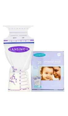 Pungă de stocare a laptelui mamar - Lansinoh