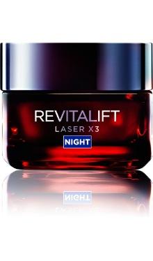 Cremă de noapte antirid Revitalift Laser X3 - L'oreal Paris
