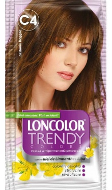 Vopsea de păr semipermanentă Trendy Colors C4 Castaniu Raggae - Loncolor