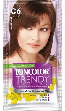 Vopsea de păr semipermanentă Trendy Colors C6 Șaten Oriental - Loncolor