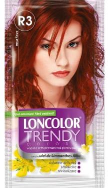 Vopsea de păr semipermanentă Trendy Colors R3 Roșu Rave - Loncolor