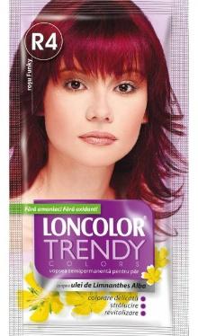 Vopsea de păr semipermanentă Trendy Colors R4 Roșu Funky - Loncolor