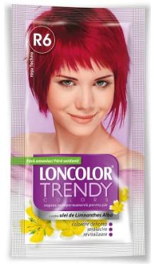 Vopsea de păr semipermanentă Trendy Colors R6 Roșu Techno - Loncolor