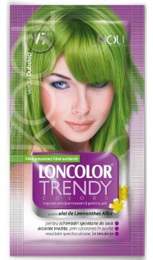 Vopsea de păr semipermanentă V7 Verde Dubstep - Loncolor