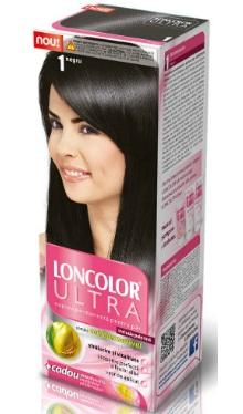 Vopsea de păr Ultra 1 Negru - Loncolor