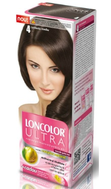 Vopsea de păr Ultra 4 Castaniu Mediu - Loncolor