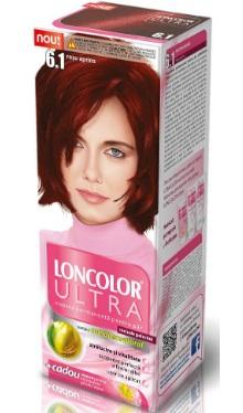 Vopsea de păr Ultra 6.1 Roșu Aprins - Loncolor