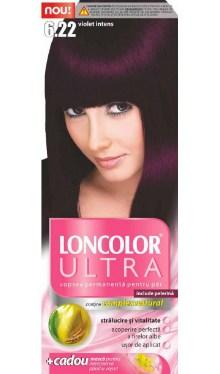 Vopsea de păr Ultra 6.22 Violet Intens - Loncolor