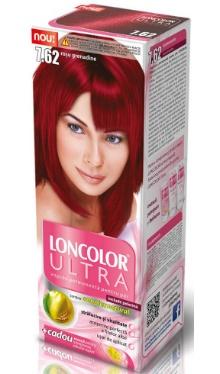 Vopsea de păr Ultra 7.62 Roșu Grenadine - Loncolor