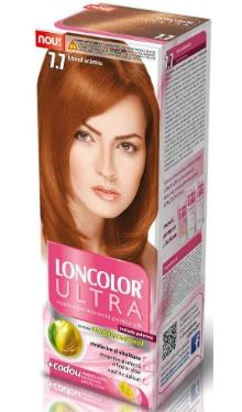 Vopsea de păr Ultra 7.7 Blond Arămiu - Loncolor