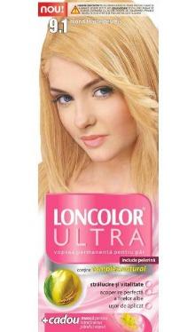 Vopsea de păr Ultra 9.1 Blond Foarte Deschis - Loncolor