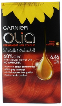 Vopsea de păr Olia 6.46 Intense Red Cooper - Garnier