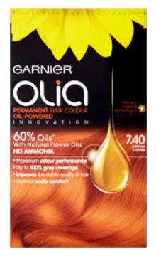 Vopsea de păr Olia 7.40 Intense Cooper - Garnier