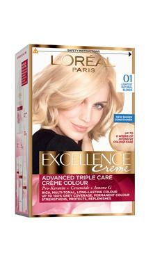 Vopsea de păr Excellence Creme 01 - L'Oreal
