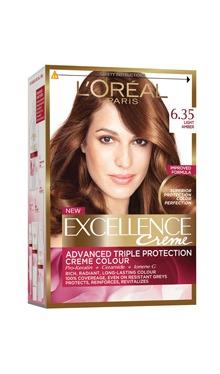 Vopsea de păr Excellence Creme 6.35 - L'Oreal