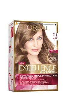 Vopsea de păr Excellence Creme 7.1 - L'Oreal