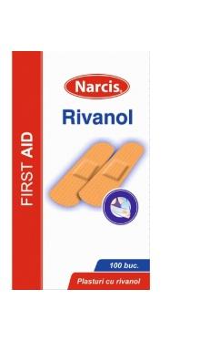 Bandă adezivă rivanol cutie - Narcis