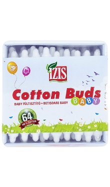 Bețișoare orl din bumbac pentru copii - Izis