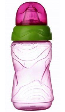 Cană anticurgere cu cioc silicon roz - Minut