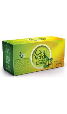 Ceai verde cu aromă de lămâie, doze - Larix