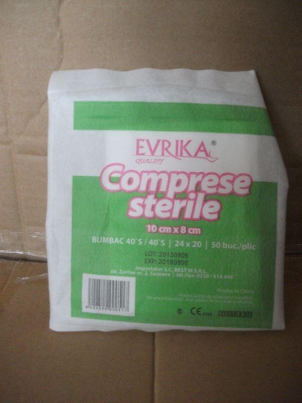 Comprese sterile 8 cm x 10 cm - Evrika