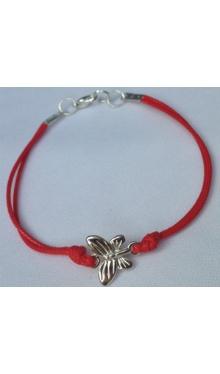 Brățară șnur roșu Fluture