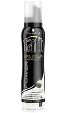 Spumă de păr Invisible Power - Taft