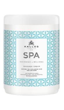 Kallos Spa cremă de masaj cu ulei de cocos, acid hialuronic și collagen