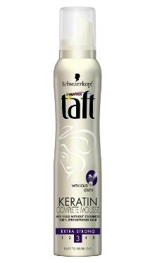 Spumă de păr extra strong keratin - Taft