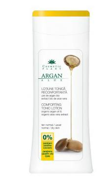 Loțiune tonică reconfortantă cu ulei de argan bio şi extract bio de aloe vera - Cosmetic plant