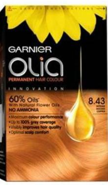 Vopsea de păr Olia 8.43 Intensive Gold Copper - Garnier