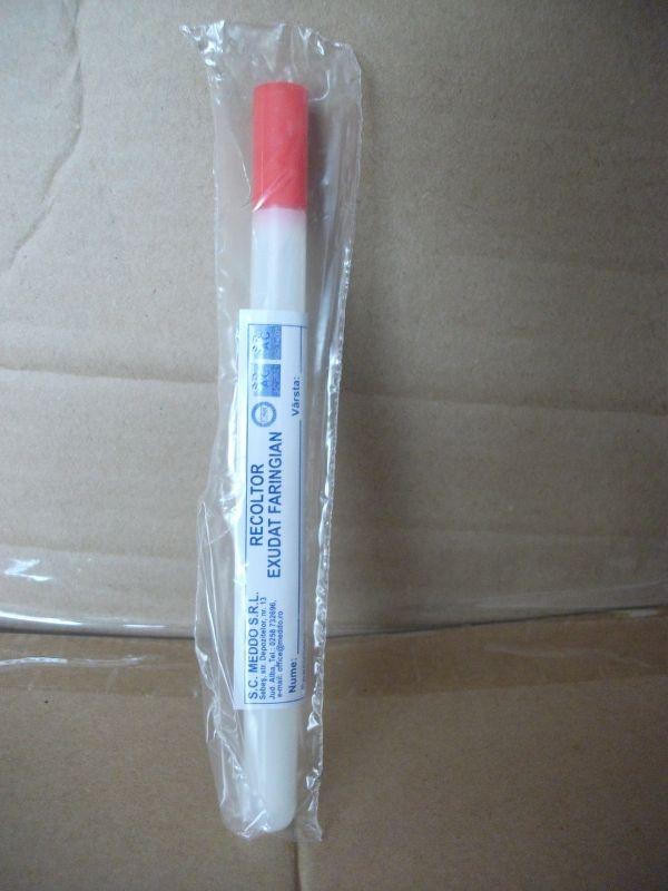 Recoltor exudat faringian steril