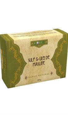 Săpun natural cu sulf și ulei de măsline - Lotus