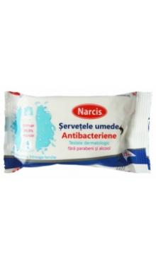 Șervețele umede antibacteriene - Narcis