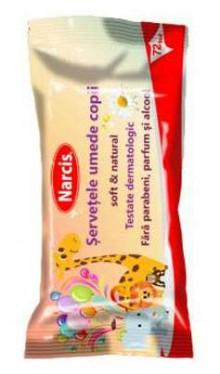 Serveţele umede pentru copii - Narcis