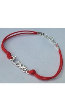 Brățară șnur roșu Love