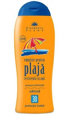 Emulsie plajă rezistentă la apă SPF 30 cu ulei de cătină - Cosmetic Plant
