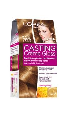 Vopsea de păr fără amoniac 7304 - Loreal Casting Creme Gloss