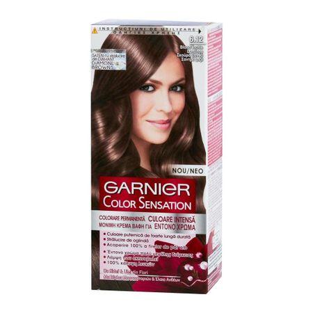 Vopsea De Păr Garnier Color Sensation 612 Blond închis Luminos